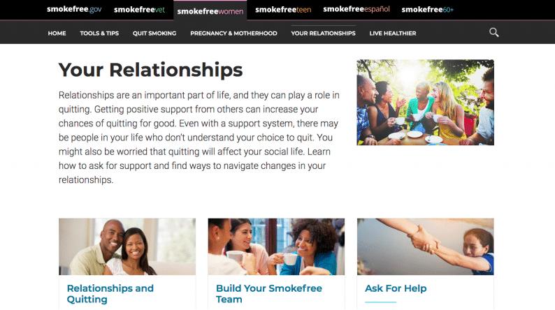 stop smoking website
